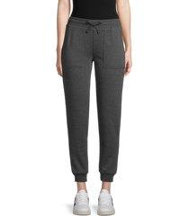 rebecca minkoff women's nora sweatpants - charcoal - size l