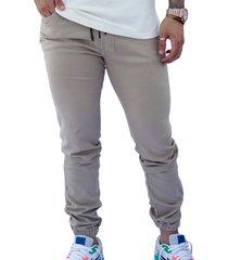 pantalón jogger beige hombre manpotsherd