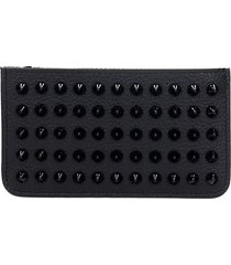 christian louboutin credilou wallet in black leather