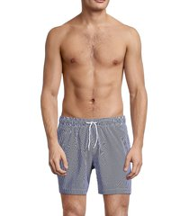 trunks surf + swim men's pinstripes drawstring swim shorts - marine - size xxl