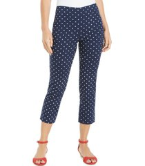 charter club petite cropped tummy-control skinny pants, created for macy's