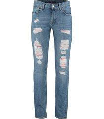 alexander mcqueen slim-fit destroyed jeans