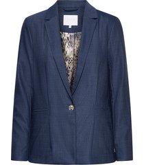 blazer w. pleating detail blazers casual blazers blå coster copenhagen