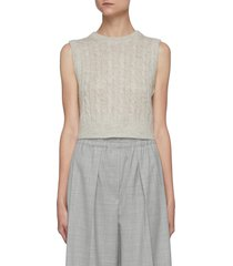 cable knit wool tank top
