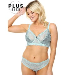 conjunto aqua playboy muse plus size