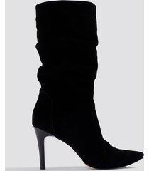 trendyol zipper detailed boots - black