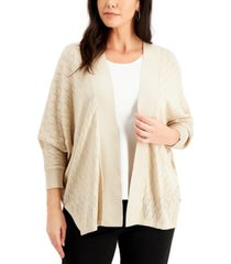 jm collection chevron-knit short cardigan sweater, created for macy's