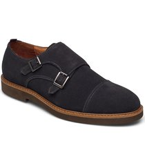casual double monk strap shoe shoes business monks grå tga by ahler