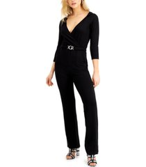 guess bree hooded cinched-waist jumpsuit