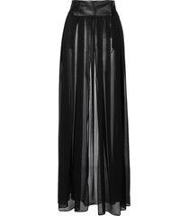 something wicked ava sheer pleated maxi skirt - black