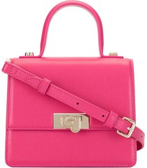bapy by *a bathing ape® top handle box shoulder bag - pink