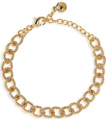 women's baublebar crystal covered link bracelet