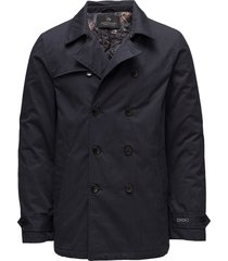 classic double breasted trench coat trenchcoat lange jas zwart scotch & soda