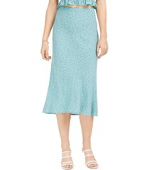 bcx juniors' dot-print bias-cut midi skirt