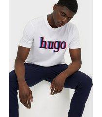 hugo dontrol t-shirt t-shirts & linnen white