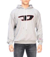 diesel sweatshirt diesel sweatshirt with hood and maxi sponge logo