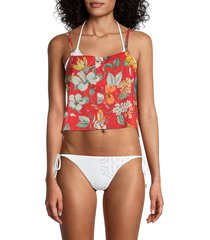onia women's bree cover-up top - red - size m