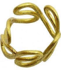anillo de mujer oro onde brass colection by vestopazzo