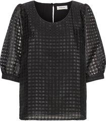 genzi top blouses short-sleeved svart modström