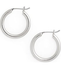 women's halogen small endless hoop earrings