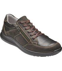 skor med snörning och dragkedja jomos brun