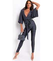 akira to the top stacked leg jumpsuit