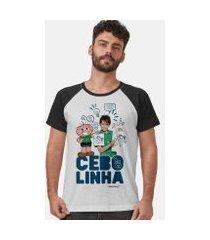 camiseta bandup! raglan turma da mônica laços cebolinha zoeira never ends masculina
