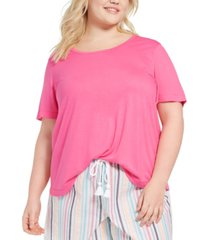 jenni plus size pajama t-shirt, created for macy's