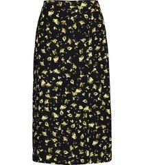 floral midi skirt knälång kjol svart calvin klein jeans