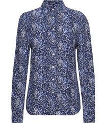 o2. snowdrop spread shirt blouse långärmad skjorta blå gant