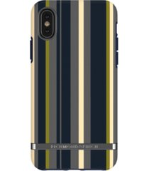 richmond & finch navy stripes case for iphone x and xs
