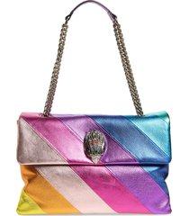 kurt geiger london rainbow shop extra extra large kensington quilted leather shoulder bag - pink