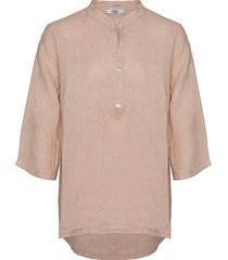 tiffany shirt linen, rose, 17661