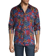 classic-fit floral shirt