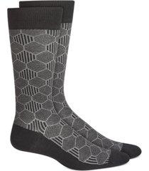 alfani men's geo line socks, created for macy's