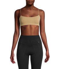 vimmia women's adjustable sports bra - camel - size m/l