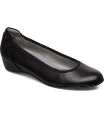 woms court shoe ballerinaskor ballerinas svart tamaris