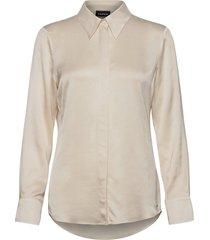 blouse long-sleeve blus långärmad beige taifun
