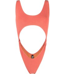 reina olga marina cutout swimsuit - orange