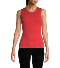 bailey 44 women's maya ribbed tank top - red - size s