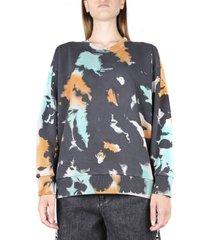 oversized multicolor cotton sweatshirt