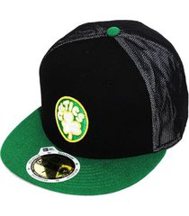 boné new era aba reta fechado nba celtics mesh out