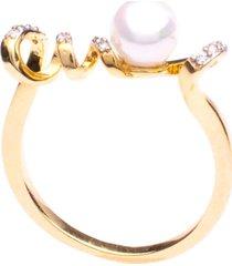 anel boca santa semijoias delicate de pérola ouro amarelo