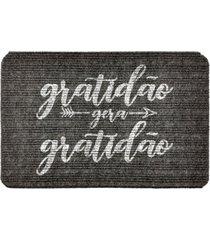 capacho carpet gratidã£o gera gratidã£o cinza ãšnico love decor - cinza - dafiti