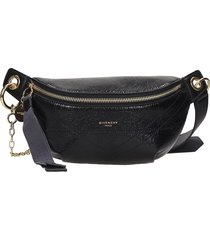 givenchy i d belt bag waist bag in black leather
