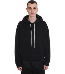 jil sander sweatshirt in black cotton