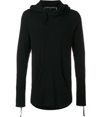 cedric jacquemyn hooded sweater - black