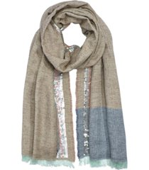 echo sequin fringe wrap scarf