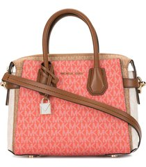 michael michael kors small belted satchel tote - multicolour