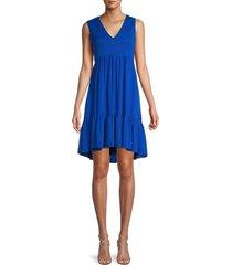 calvin klein women's solid tiered dress - regatta - size 8
